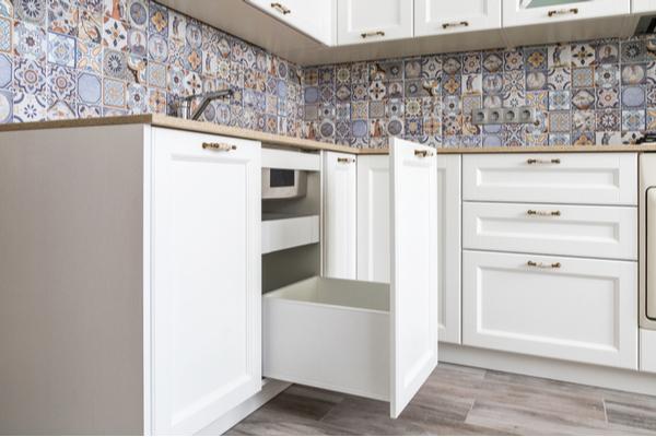 Cocinas modernas frentes azulejos